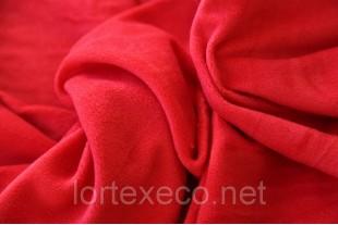 Ткань Флис подкладочный односторонний ,цвет красный, 170 г/м2