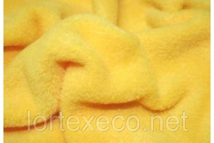 Ткань Флис 250 FDY,№110, цвет желтый, 250 г/м2.