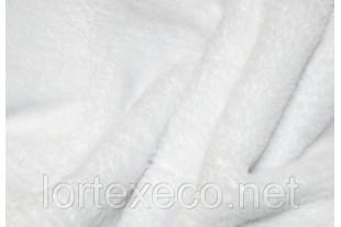 Ткань Флис подкладочный, цвет белый, 130 г/м2.