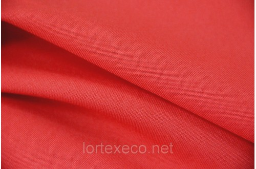 Ткань Габардин , цвет красный, 160 г/м2, №162.