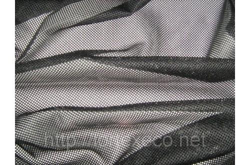Сетка трикотажная, подкладочная, черная, 75 г/м2.
