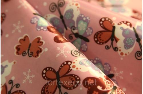 """Ткань Оксфорд,210D,принт """" Бабочки узоры"""" ,110г/м2."""