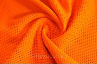 Сетка трикотажная, оранжевая, 113г/м2.