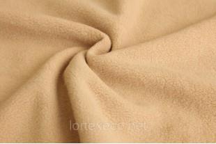 Ткань Флис подкладочный, цвет бежевый, 180 г/м2, № 277.