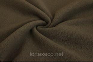 Ткань Флис  с антипиллинговой отделкой, коричневый, 180 г/м2.