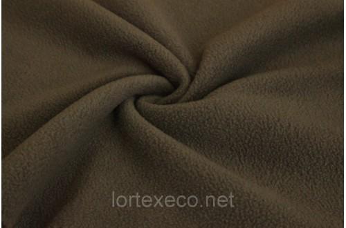 Ткань Флис  подкладочный, коричневый, 180 г/м2.