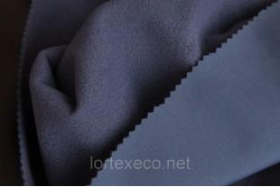 Ткань Курточная Софтшелл , цвет темно-синий, 300 г/м2.
