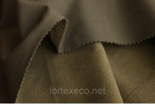 Ткань Курточная Софтшелл , цвет хаки, 300 г/м2.