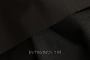 Ткань Курточная Софтшелл , цвет черный, 300 г/м2.