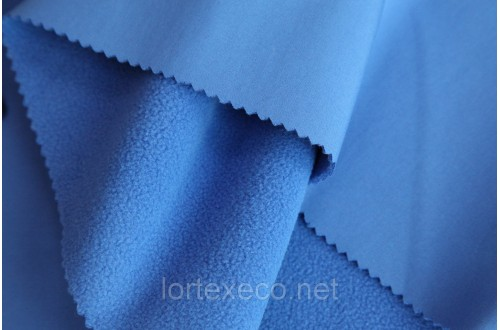 Ткань Курточная Софтшелл , цвет василек, 300 г/м2.