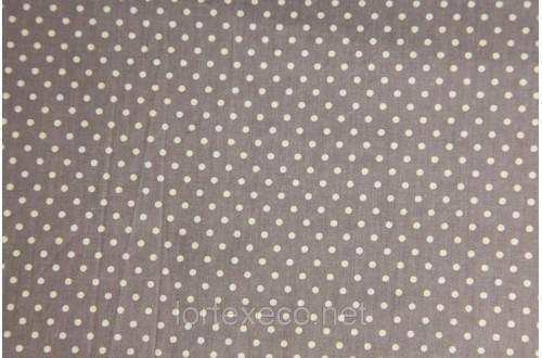 Экофайн Shirt Cotton,принт (горох серый),110 г/м2.