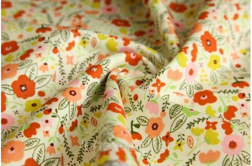 Экофайн Shirt Cotton,принт (желтый луг),110 г/м2.