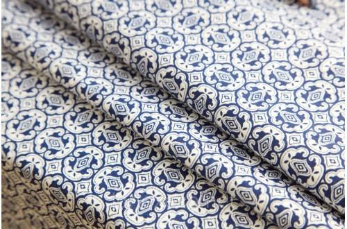 Под заказ Экофайн Shirt Cotton,принт (авангард синий),110 г/м2.