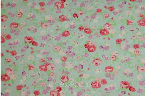 Экофайн Shirt Cotton,принт (пионы) ,110 г/м2.