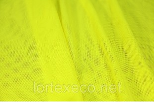 Сетка трикотажная, подкладочная, желтая, 75 г/м2.