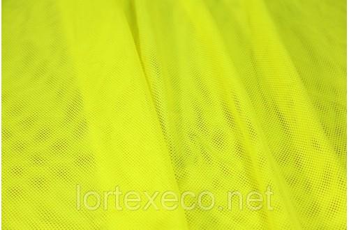 Сетка трикотажная, подкладочная, лимонная, 75 г/м2.