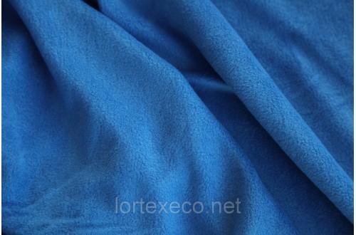 Ткань Флис подкладочный односторонний ,цвет василек, 170 г/м2.