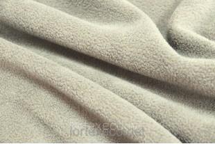 Ткань Флис подкладочный односторонний ,цвет светло-серый, 170 г/м2.