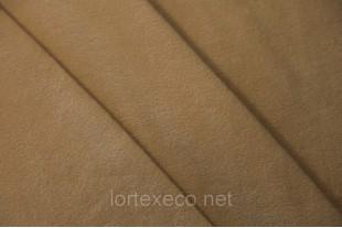 Ткань Флис подкладочный односторонний ,цвет бежевый, 170 г/м2, № 277.