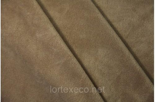 Ткань Флис подкладочный односторонний ,цвет светло-коричневый, 170 г/м2