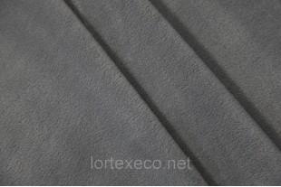 Ткань Флис подкладочный односторонний ,цвет темно-серый, 170 г/м2