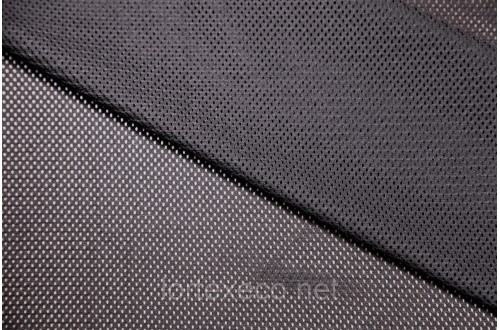Сетка трикотажная, черная, 113г/м2.