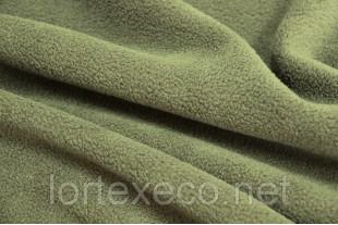 Ткань Флис подкладочный односторонний ,цвет  хаки, 170 г/м2.