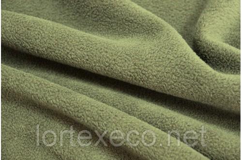Ожидается поставка Ткань Флис подкладочный односторонний ,цвет  хаки, 170 г/м2.