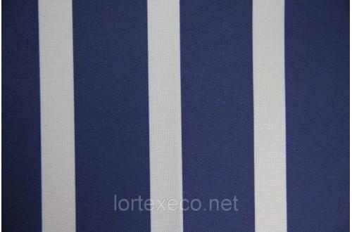 Ткань ОКСФОРД 500D*500D, синяя полоса, №280.