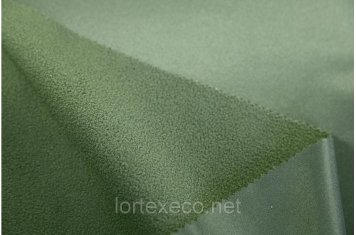 Ткань дублированная,Дюспо-Флис, хаки, 230г/м2.