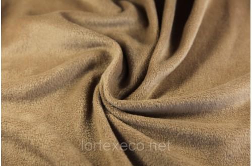 Ткань Флис подкладочный, цвет какао №294, 180 г/м2.