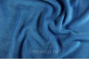 Ткань Флис с антипиллинговой отделкой, цвет василек №213, 180 г/м2.