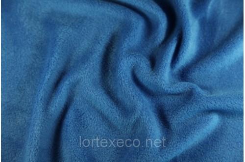 Ткань Флис подкладочный, цвет василек №213, 180 г/м2.