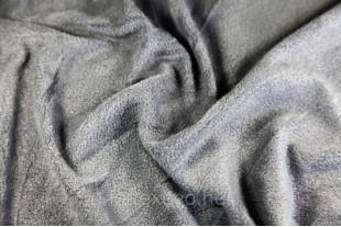 Ткань Флис подкладочный, цвет графит №311, 180 г/м2.
