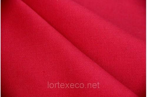 ТиСи плащевая Твилл, 80/20,  красный, 200 г/м2.