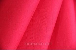 Ткань Т/С с антистатической углеродной нитью, цвет красный.