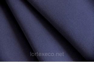 Ткань Т/С с антистатической углеродной нитью, цвет темно-синий.