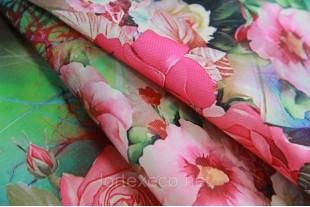 """Ткань Оксфорд,210D,принт """"Розовые Розы""""."""