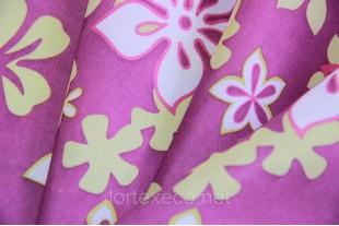 """Ткань Оксфорд,210D,принт """"Цветы на фиолетовом"""""""