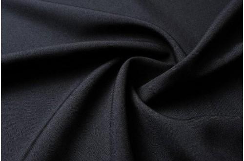 Ткань Габардин, цвет иссиня-черный, 160 г/м2, №227.
