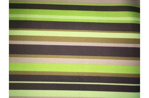 Ткань ОКСФОРД 500D*500D, салатовая полоса
