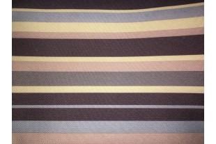 Ткань ОКСФОРД 500D*500D, JY16-90046-2 темно-бежево-коричневая полоска