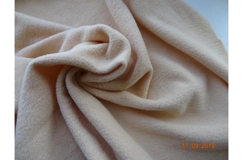 Ткань Флис с антипиллинговой отделкой, цвет бежевый, 180 г/м2, № 277.