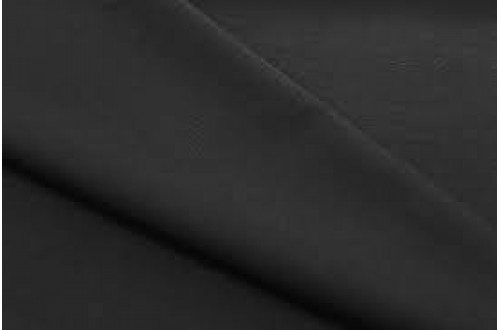 Ткань Габардин, цвет  черный, 160 г/м2