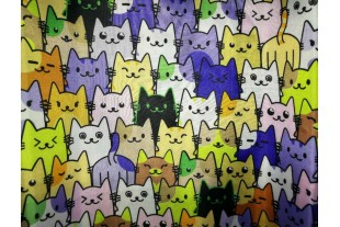 "Ткань Оксфорд 210Д, ""Коты"" JY16-90309,110г/м2."