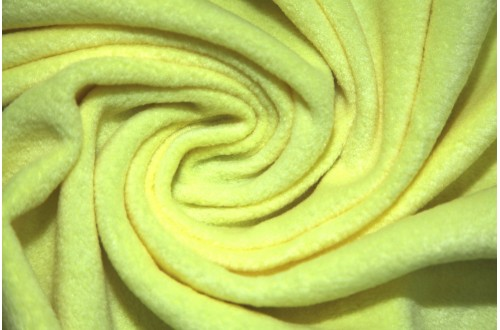 Ткань Флис (Polarfleece) светло желтый, 220 г/м2.