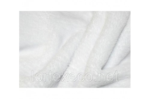 Ткань Флис супервпитывающий двухсторонний, цвет Белый, 180 г/м2
