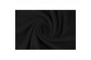 Ткань Флис подкладочный, цвет Черный, 130 г/м2.