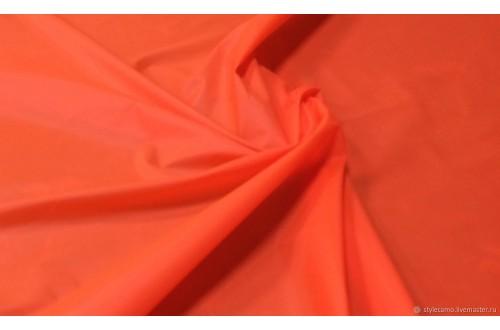 Ткань Курточная Дюспо Милки 240Т, цвет оранжевый, 80г/м2