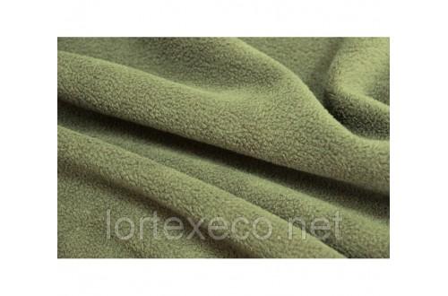 Ткань Флис подкладочный, цвет хаки , 130 г/м2.